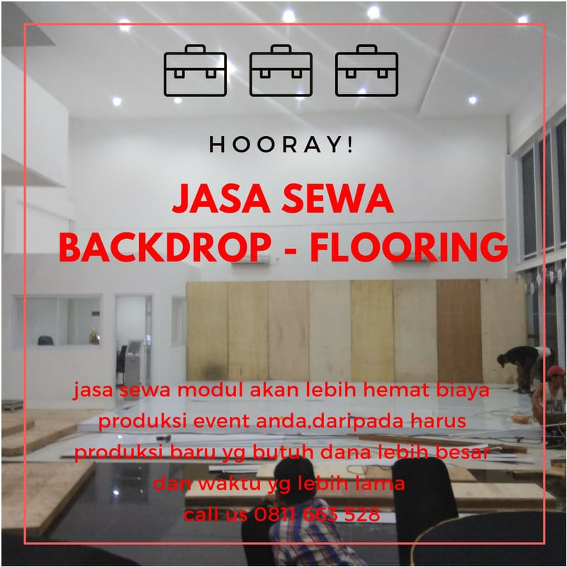 Jasa Sewa Backdrop - Flooring