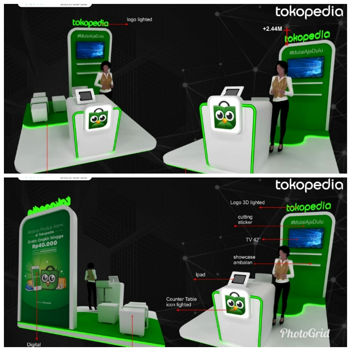 Booth Tokopedia